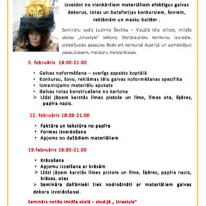 Galvas rotu darināšanas seminārs 2018. gada februārī