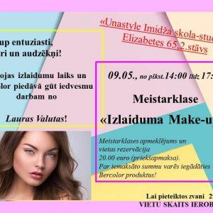Izlaiduma make-up meistarklase 9.maijā