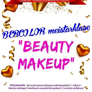"16. janvārī BERCOLOR ""BEAUTY MAKE-UP"" meistarklase"